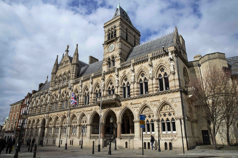 This is an image which is also a link to   Guildhall